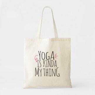 Yoga är sorten av min saktoto hänger lös budget tygkasse