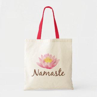 Yoga för Namaste lotusblommablomma Tygkasse