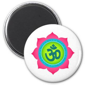 Yoga för Om för Namaste lotusblommablomma Magnet Rund 5.7 Cm
