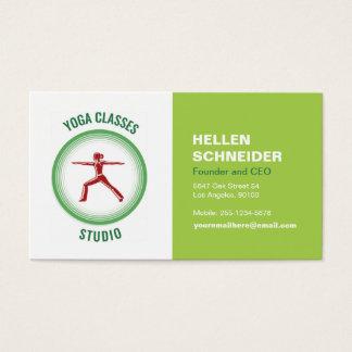Yoga klassificerar visitkortRUNDAN TRÄNGA NÅGON Visitkort