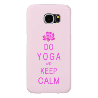 Yoga med lotusblommablomman samsung galaxy s6 fodral
