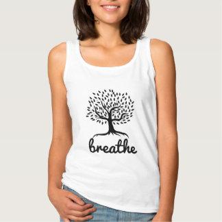 Yoga- & meditationlivträd andas linne