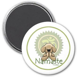 Yoga - Namaste Magnet Rund 7.6 Cm