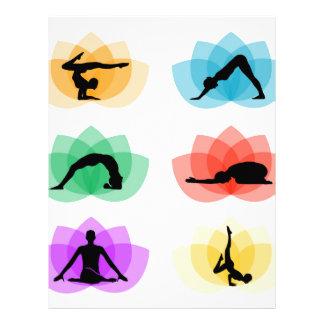 yoga- och meditationsymboler brevhuvud
