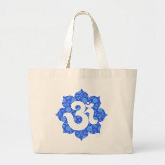 Yoga Om i lotusblommamörk - blått Jumbo Tygkasse
