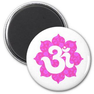 Yoga Om i lotusblommarosor Magneter För Kylskåp