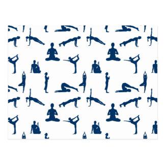 Yoga placerar vykort