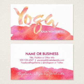 YOGA poserar rosa- & vitvattenfärgvisitkortar Visitkort