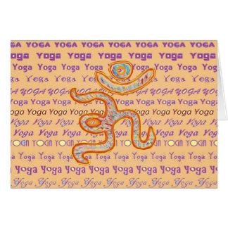 YOGA - skriva all över olikt typsnitt Hälsningskort