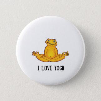Yogagroda - jag älskar Yoga, ögonblick av zenen Standard Knapp Rund 5.7 Cm