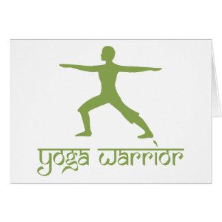 Yogakrigare poserar hälsningskort