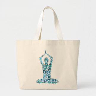 Yogalotusblommar poserar ordmolnZen Jumbo Tygkasse