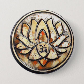 YogaOm-symbol Mellanstor Knapp Rund 7.6 Cm