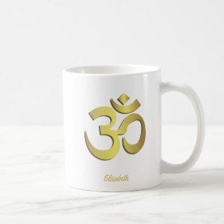 Yogasymbol för Om (Aum) Namaste Kaffemugg