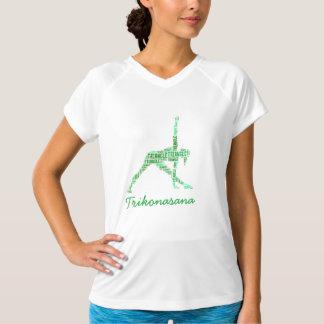 Yogatriangeln poserar Trikonasana i gröntar Tröjor