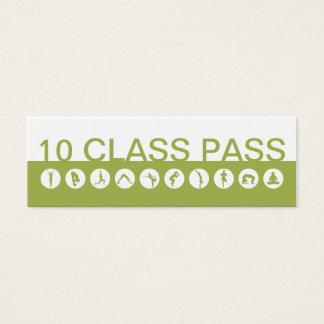 Yogavisitkort 10 klassificerar passerar litet visitkort