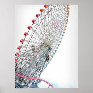 Yokohama Japan pariserhjul Poster