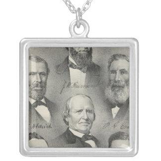 Yolo County porträtt Silverpläterat Halsband