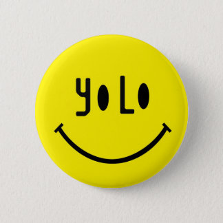 Yolo smiley face standard knapp rund 5.7 cm