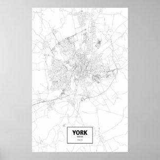 York England (svarten på vit) Poster