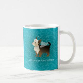 Yorkie - älsklings- minnesmärke - ängelhund vit mugg