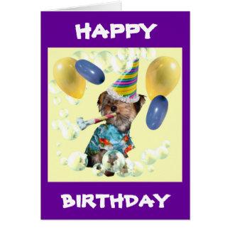 Yorkie grattis på födelsedagenkort hälsningskort