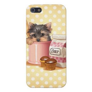 Yorkie och chokladmuffins iPhone 5 skydd