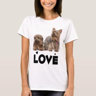 Yorkies för kärlek för hund för valp för Yorkshire Tee Shirt