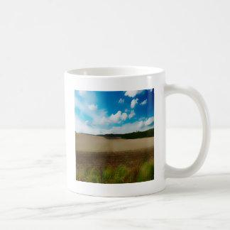 Yorkshire med en konstnärlig blur kaffemugg