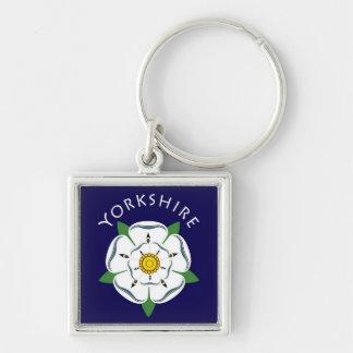Yorkshire rosa nyckelring