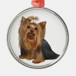 Yorkshire Terrier (7) Julgransprydnad Metall
