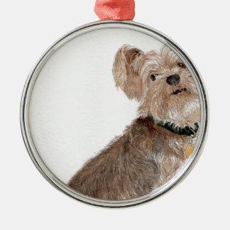 Yorkshire Terrier Julgransprydnad Metall