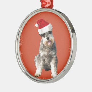 Yorkshire Terrier med hatten Julgransprydnad Metall