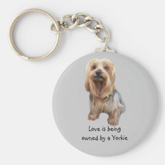 Yorkshire Terrier så gulliga Keychain Rund Nyckelring