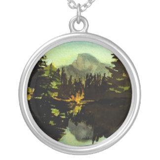Yosemite Halfdome reflexionshalsband Silverpläterat Halsband