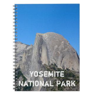 Yosemite halv kupol anteckningsbok med spiral