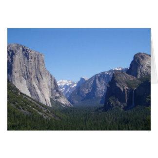 Yosemite Kalifornien för fem Landmarks kort