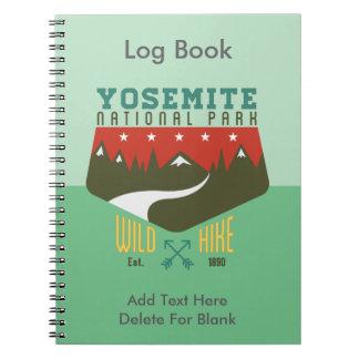 Yosemite nationalpark anteckningsbok