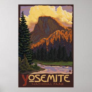Yosemite nationalpark - den halva kupolen reser poster
