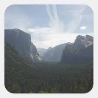 Yosemite nationalpark fyrkantigt klistermärke