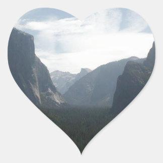 Yosemite nationalpark hjärtformat klistermärke