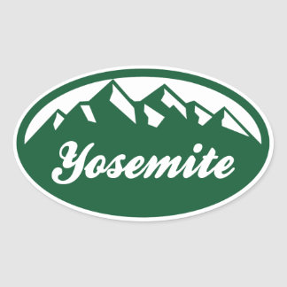 Yosemite nationalpark ovalt klistermärke