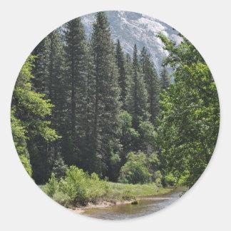 Yosemite nationalpark runt klistermärke