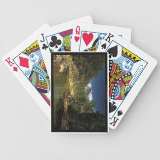 Yosemite nationalpark som leker kort spelkort