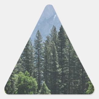 Yosemite nationalpark triangelformat klistermärke