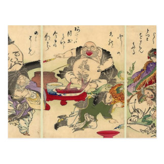 Yoshitoshis sju lyckliga gudar (specificera), vykort