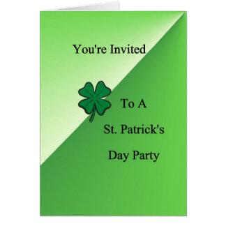 You' beträffande inbjudet till ett St Patrick Hälsningskort
