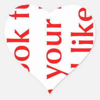 you-look-funny-opt-red.png hjärtformat klistermärke