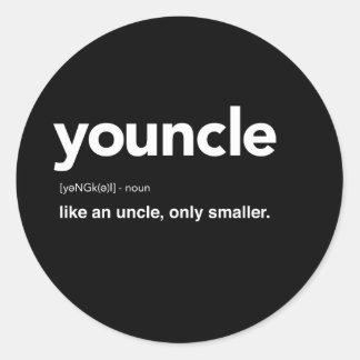 Youncle definition runt klistermärke