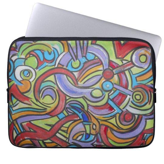 Yrande-Räcka målad abstrakt konst Laptop Sleeve